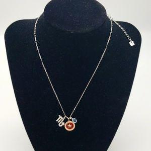 Swarovski Zodiac Silver Necklace Scorpio-3 Charms